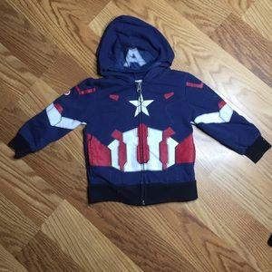 Avengers Captain America Jacket Size 3T